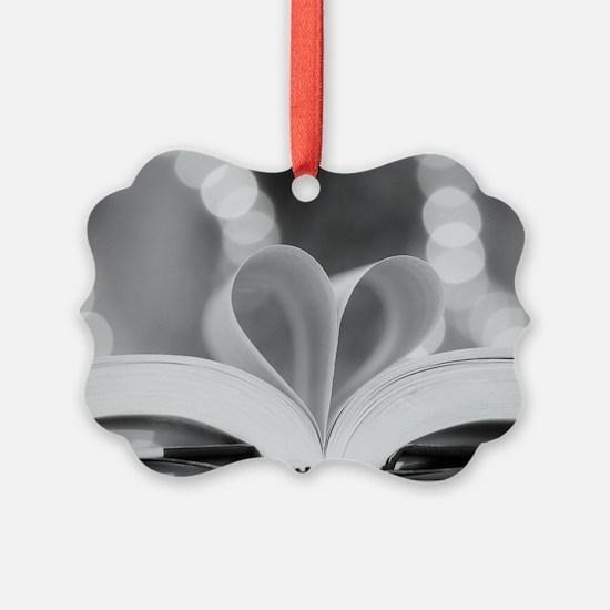 Book Heart Ornament