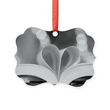 Book Heart Picture Ornament