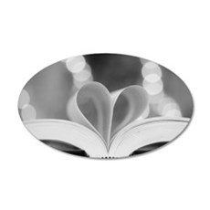 Book Heart Wall Decal