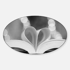 Book Heart Decal