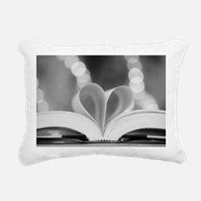 Book Heart Rectangular Canvas Pillow