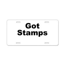 Got Stamps Aluminum License Plate