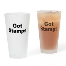 Got Stamps Drinking Glass
