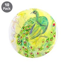 """Dream Peacock 3.5"""" Button (10 pack)"""