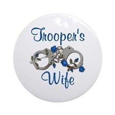 Trooper's Wife Ornament (Round)
