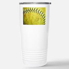 Softball Stainless Steel Travel Mug