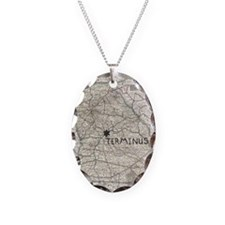 TERMINUS Map for Rick Grimes a Necklace