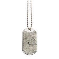 TERMINUS Map for Rick Grimes and Daryl Di Dog Tags