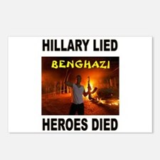 HILLARY LIED Postcards (Package of 8)