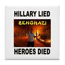 Hillary Lied Tile Coaster