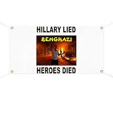 HILLARY LIED Banner