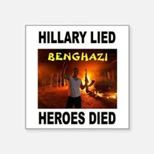 HILLARY LIED Sticker