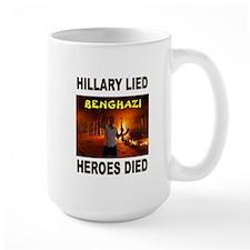 HILLARY LIED Mugs