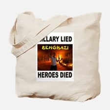 HILLARY LIED Tote Bag