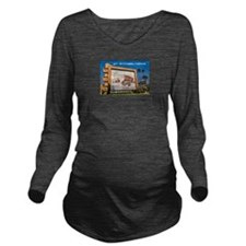 Compton Drive In frm Long Sleeve Maternity T-Shirt