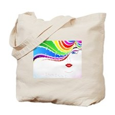 Pretty Rainbow Girl Tote Bag