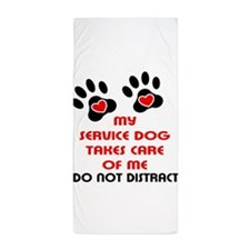 Funny Home services Beach Towel
