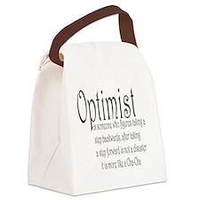 optimist: cha  Canvas Lunch Bag