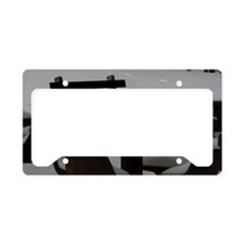 Snow seats License Plate Holder