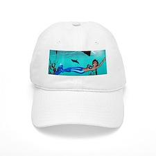 Mermaid swimming Baseball Baseball Cap