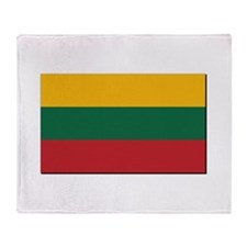 Flag of Lithuania - NO Text Throw Blanket