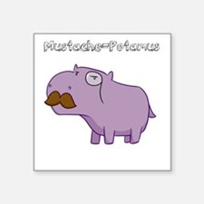 Mustache-Potamus Sticker