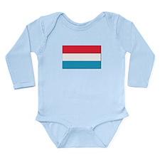 Flag of Luxembourg - N Long Sleeve Infant Bodysuit