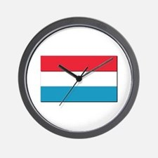 Flag of Luxembourg - NO Text Wall Clock