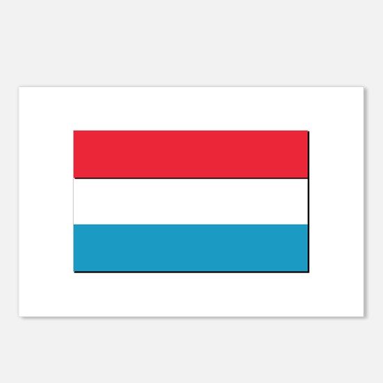 Flag of Luxembourg - NO T Postcards (Package of 8)
