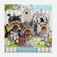 OwnedByYorkiesII Tile Coaster