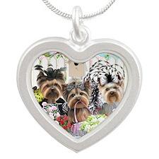 OwnedByYorkiesII Silver Heart Necklace