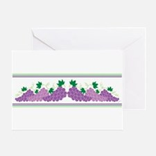 Purple Grapes Greeting Cards