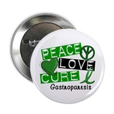 "Gastroparesis Peace Love Cure 1 2.25"" Button"