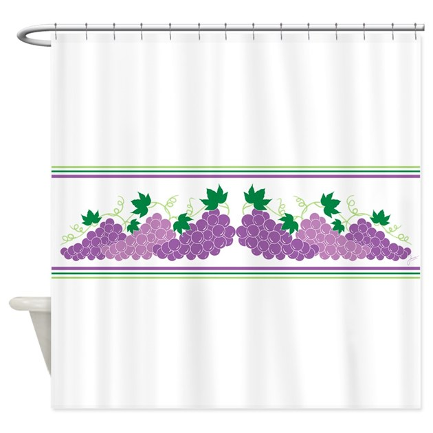 Purple Grapes Shower Curtain By Jjtrends