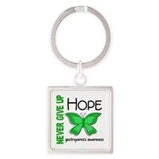 Gastroparesis Never Give Up Hope Square Keychain