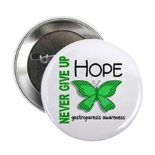 "Gastroparesis Never Give Up Hope 2.25"" Button"
