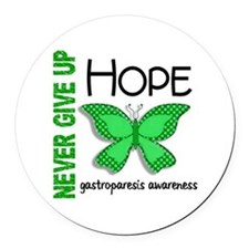 Gastroparesis Never Give Up Hope Round Car Magnet