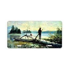 Winslow Homer - The Trapper Aluminum License Plate