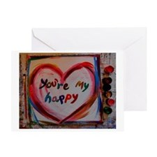 you're my happy Greeting Card
