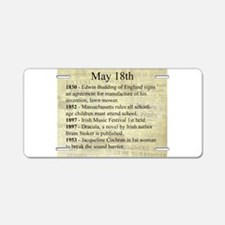 May 18th Aluminum License Plate