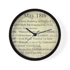 May 18th Wall Clock
