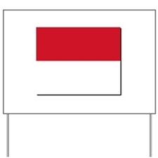 Flag of Monaco NO Txt Yard Sign