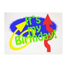 Its My Birthday 5'x7'Area Rug