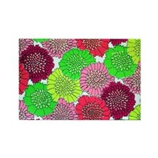 vintage neon flowers Rectangle Magnet