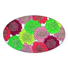 vintage neon flowers Decal