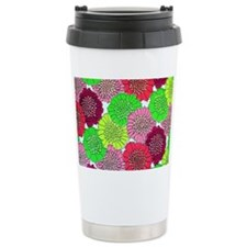 vintage neon flowers Travel Mug