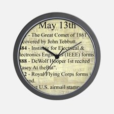 May 13th Wall Clock