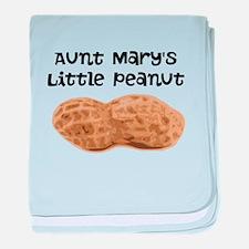 Aunts Little Peanut baby blanket