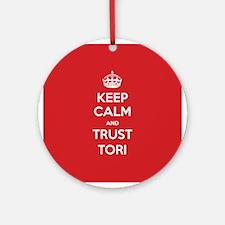 Trust Tori Ornament (Round)