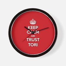 Trust Tori Wall Clock